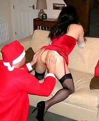 Christmas Kirsty gets fucked hard by a very naughty Santa