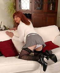 Naughty TGirl Lucimay is flashing her little panties just to tease you.