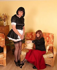 Luci May was less than pleased with the performance of her new tranny maid!
