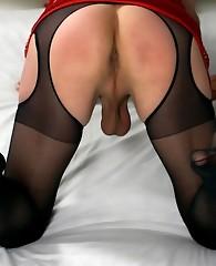 Mystery crossdressers in sexy lingerie